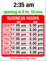 Business hours for 2nd Base
