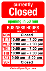 Business hours for Wedgwood Hair Studio