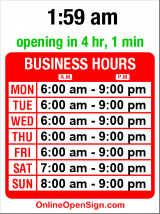 Business hours for Kaladi Brothers Coffee