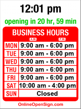 Business hours for TerraBella Flowers