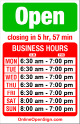 Business hours for Bulldog Espresso Bar