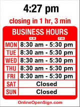 Business hours for Bergman's Lock & Key