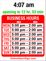 Business hours for Sun Liquor