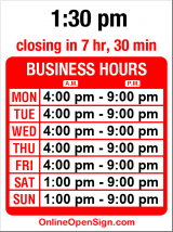 Business hours for El Casa Azul