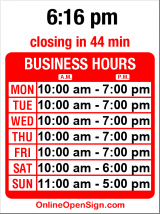 Business hours for Seattle Running Company