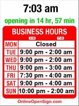 Business hours for Neighbours