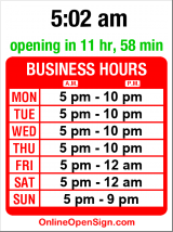 Business hours for La Spiga
