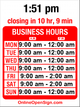 Business hours for Rosebud Restaurant & Bar