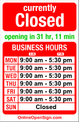 Business hours for Kaufer's Christian Books