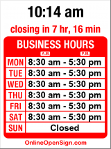 Business hours for Glazer's Rentals and Lighting