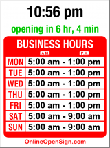 Business hours for Lake Union Wholesale Florist