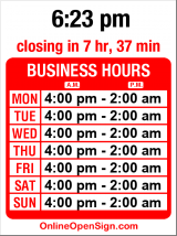 Business hours for El Corazon