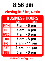 Business hours for Caffe Zingaro