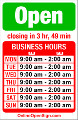 Business hours for Charlie's on Broadway