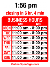 Business hours for Red Light Vintage Clothing