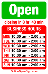 Business hours for Dick's Drive In