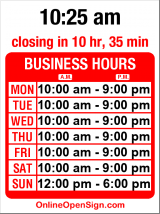 Business hours for Broadway Boutique