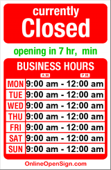 Business hours for Everyday Music