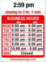 Business hours for Hour Eyes Optical