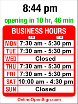 Business hours for Jim's Barber Shop