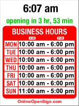 Business hours for Stuhlbergs