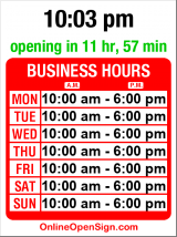 Business hours for Globe Bookstore