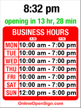 Business hours for University Nails