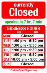Business hours for David T Stone Violins