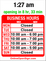 Business hours for Pro Mountain Sports