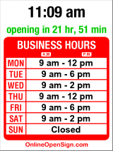 Business hours for Ravenna Dental Clinic