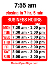 Business hours for Portage Bay Cafe