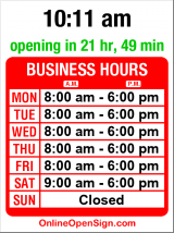 Business hours for Hardwick's Swap Shop