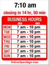 Business hours for Lost Sock Laundry