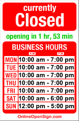 Business hours for Speakerlab