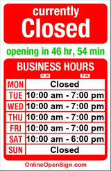 Business hours for Definitive Audio