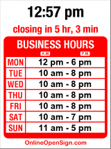 Business hours for Salon Dewi