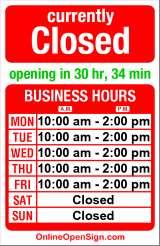 Business hours for St Francis House