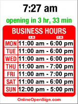 Business hours for Flora & Henri (MOVED)