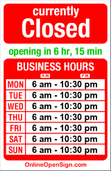 Business hours for Amtrak Station