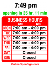 Business hours for Savage Color