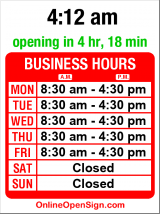 Business hours for Northlake Propeller