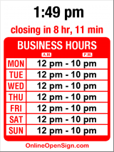 Business hours for Cold Stone Creamery