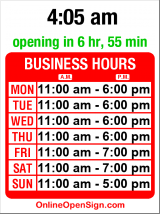 Business hours for Tininha's Butique de Biquini