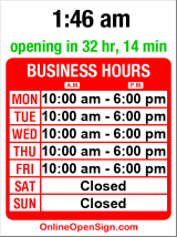 Business hours for Dave Page Cobbler