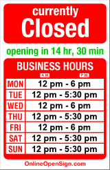 Business hours for Fritzi Ritz