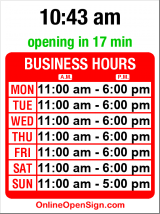 Business hours for Private Screening