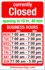 Business hours for Ballard Mail & Dispatch