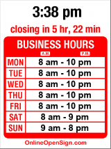 Business hours for Bartell Drugs