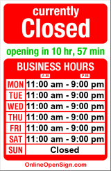 Business hours for Malena's Taco Shop