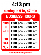 Business hours for Bit Saloon